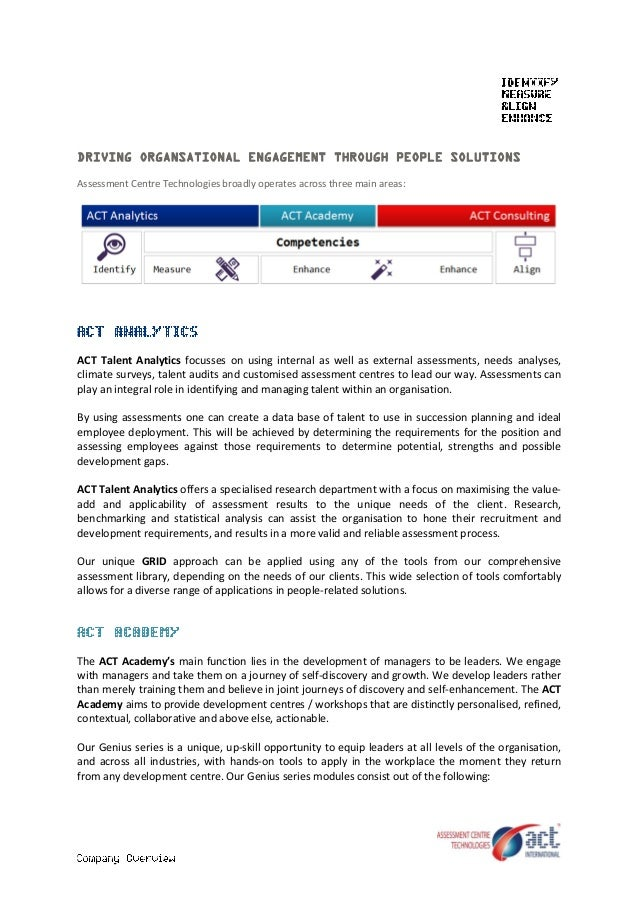 ACT International Company Overview