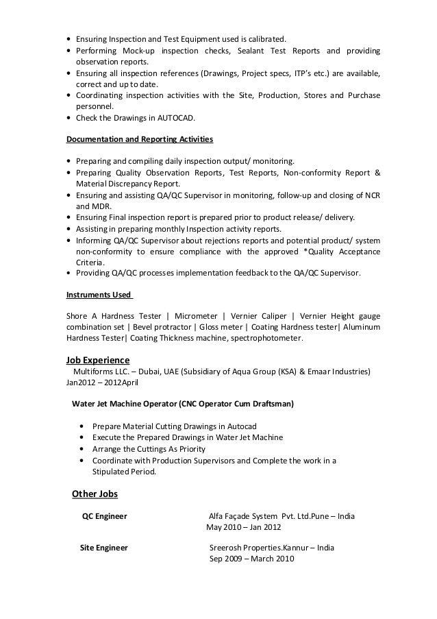 Sreenath-QA-QC  Inspector