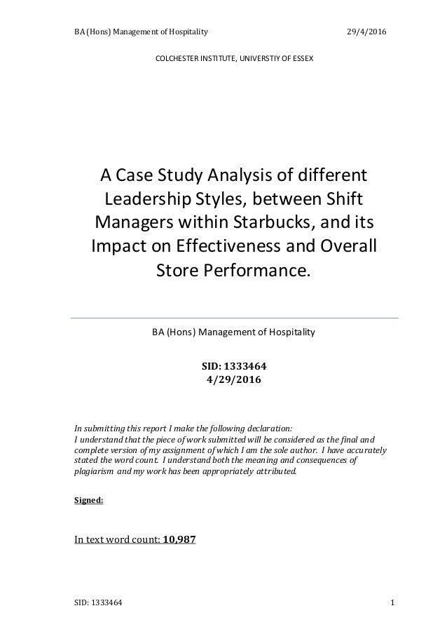 Education case study Hospitality case study     Josh Sundquist