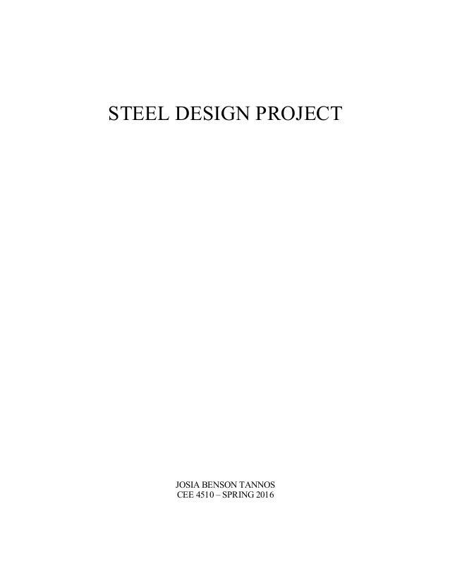 Final Report (Steel Bridge Design)