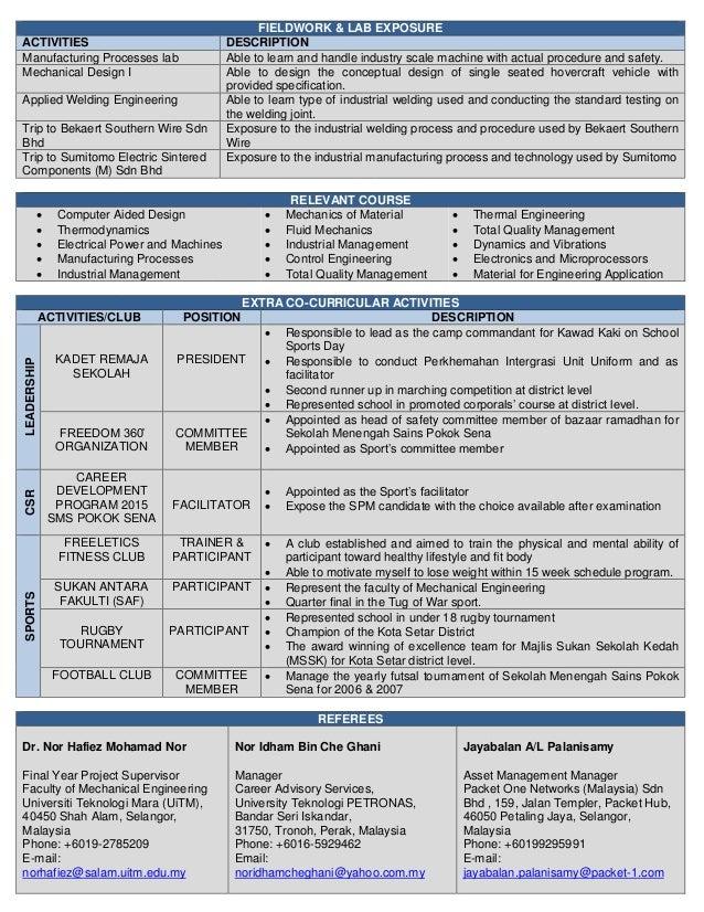 Mohd Luthfi Shahabudin UiTM (Mechanical) Slide 3