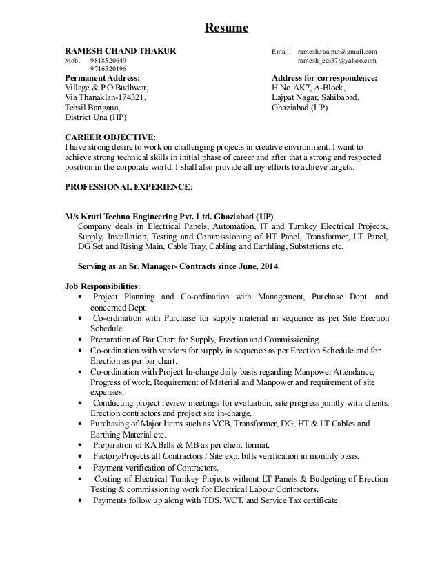 resume ramesh thakur (1) (6)