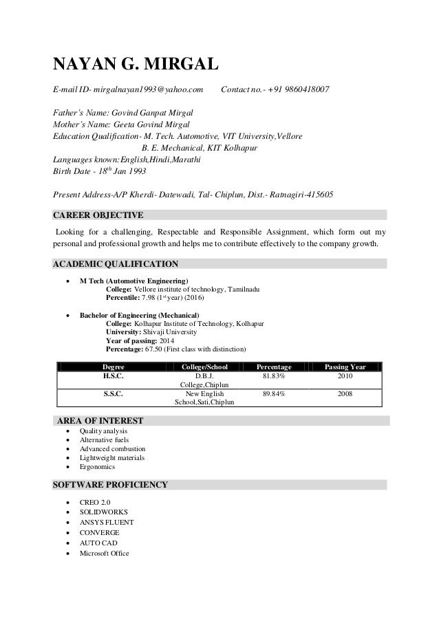 Nice Combustion Engineering Resume Gift - Administrative Officer ...