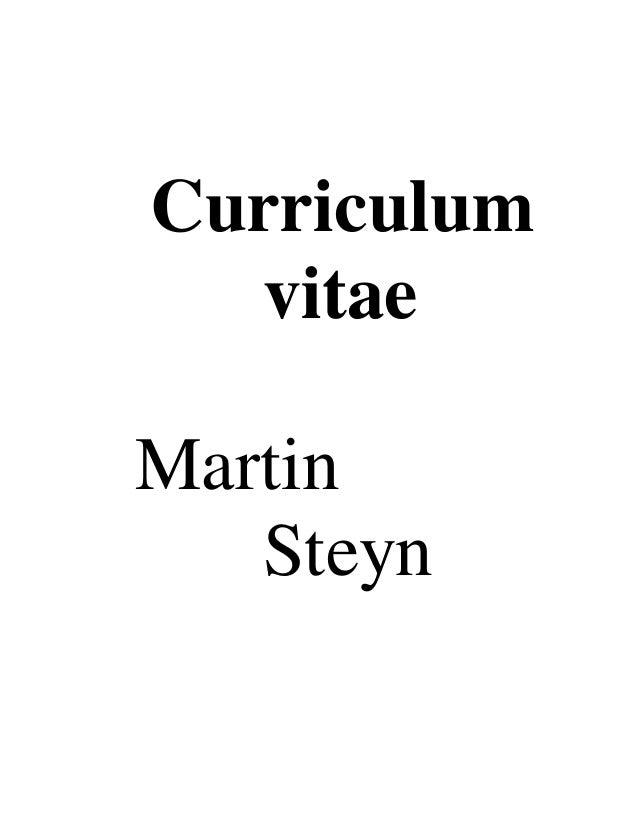 Curriculum vitae Martin Steyn