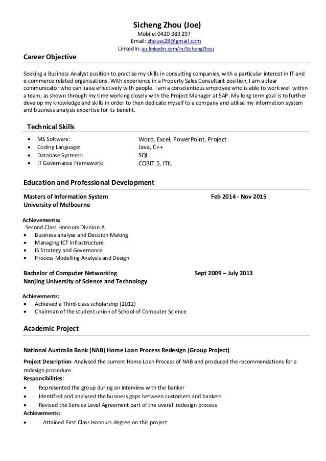 Sicheng Zhou Resume