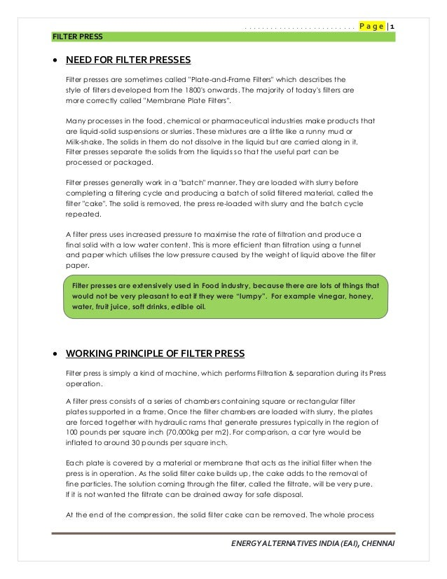 Filter Press_Report