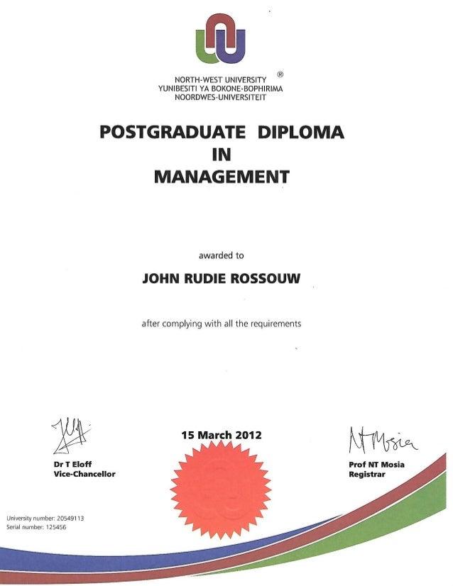 Post Graduate business management