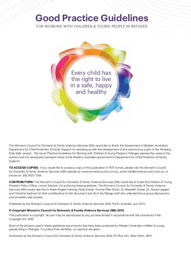 Good practice guidelines for working with children and young people i the fandeluxe Image collections