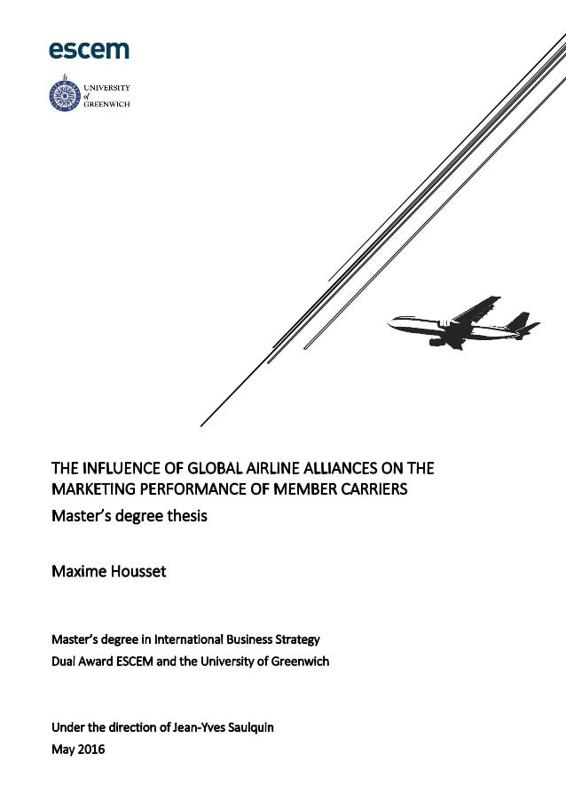 Airline master thesis