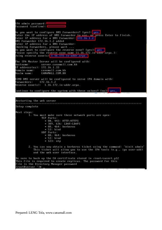 How to configure IPA-Server & Client-Centos 7