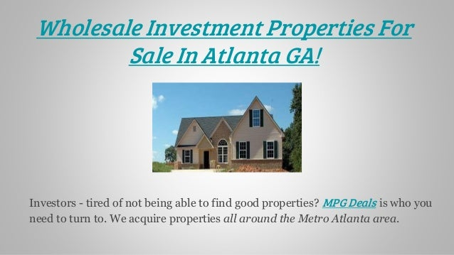 Off Market Wholesale Real Estate Deals For Sale In Atlanta GA
