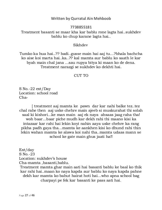 COMPLETE_SCREENPLAY AND DIALOGUES rape viktim 1 1