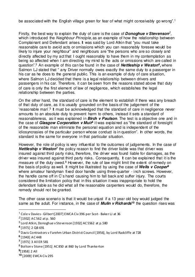 negligence essay medical negligence essay negligence essay essay on torts and pages
