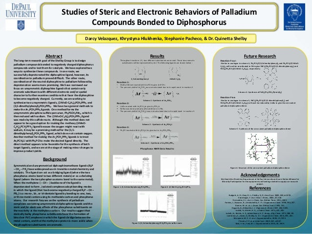 Abstract The long-term research goal of the Shelby Group is to design palladium compounds bonded to negatively charged dip...