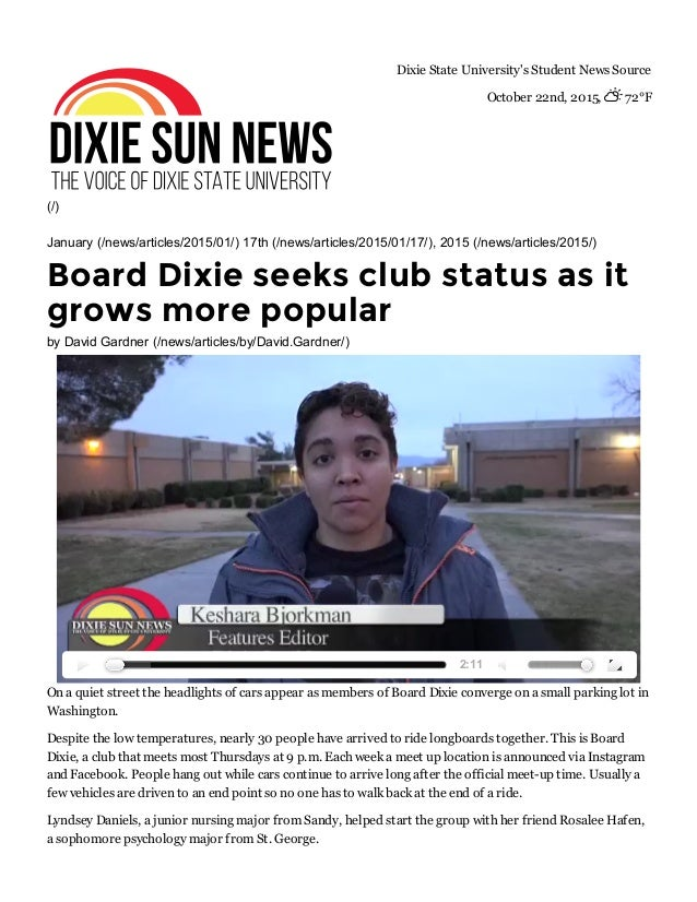 (/) DixieStateUniversity'sStudentNewsSource October22nd,2015,72°F January(/news/articles/2015/01/)17th(/news/...