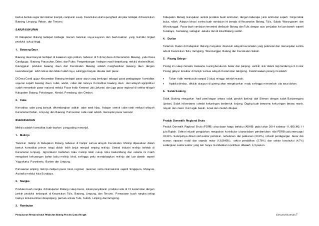 Executive Summary Batang