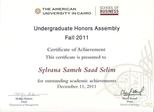 Undergraduate Honors Certificate