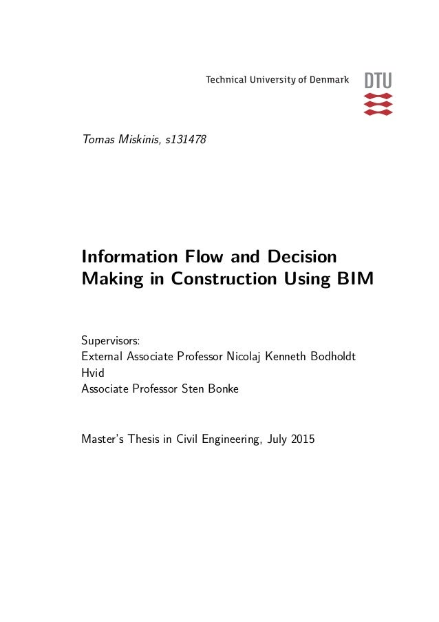 Master thesis in mis