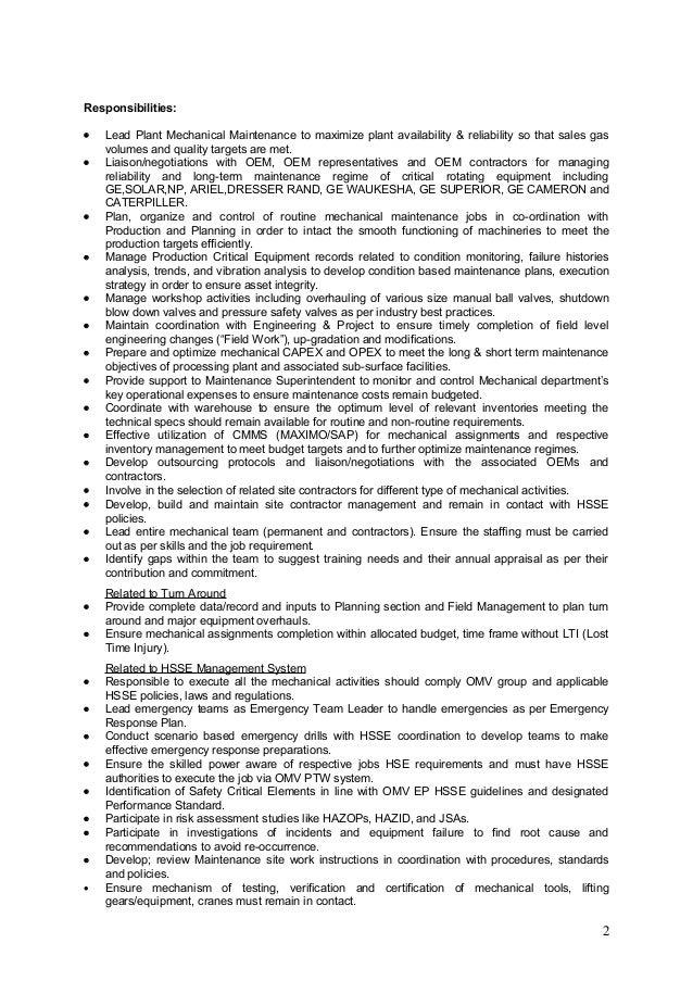 Resume For Management Position | Cover Letter