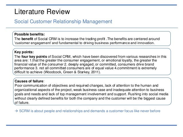 Literature review customer loyalty