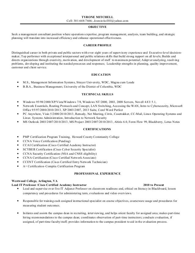 community college on resumes