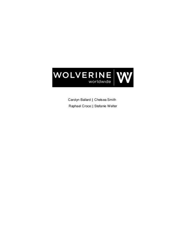 8c43e6b29ac WOLVERINE WORLDWIDE GROUP PROJECT