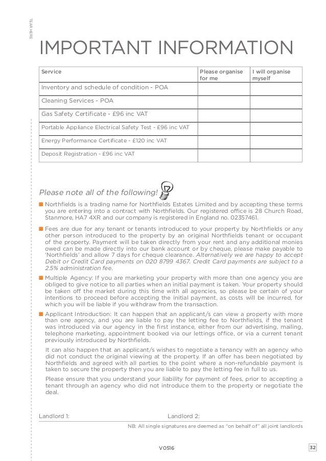 Landlord Terms Of Business