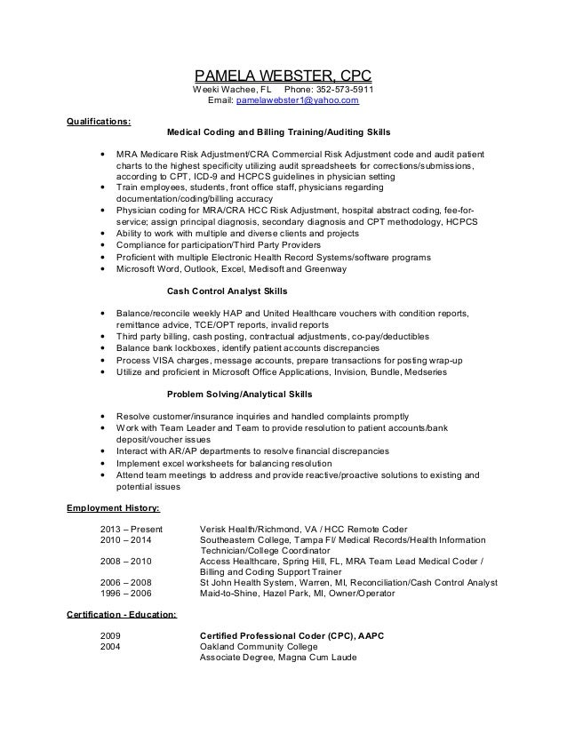Pamela Webster Resume 5-2014 NA