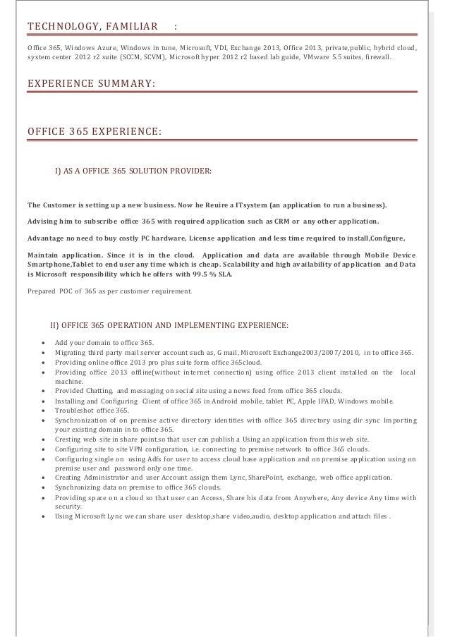 SlideShare  Microsoft Resume