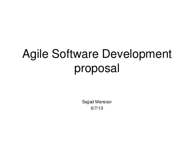Agile Software Development Proposal For Uiw 3