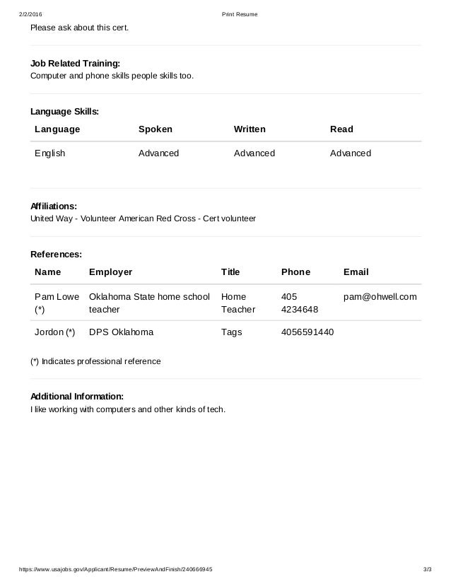free federal resume builder - Usa Jobs Resume Builder