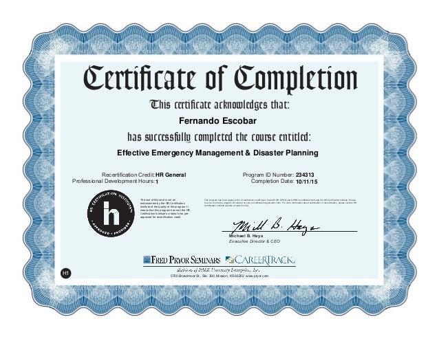 Effective Emergency Management & Disaster Planning