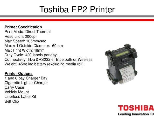 Toshiba Product Presentation Slide 2