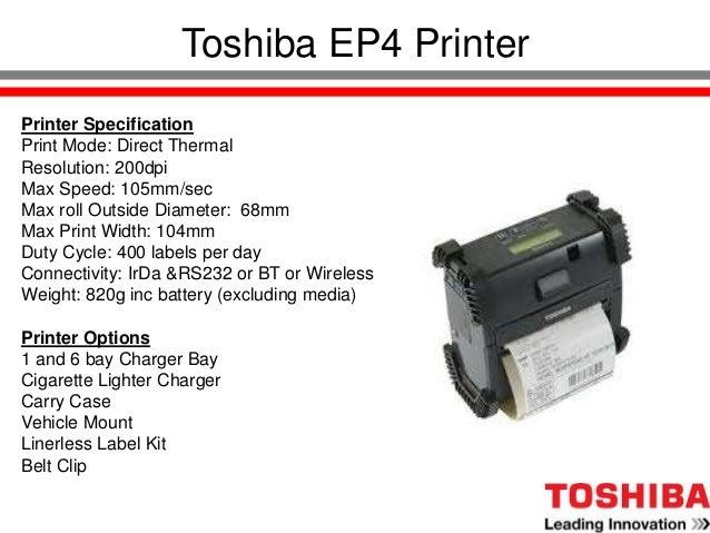 Toshiba Product Presentation Slide 3