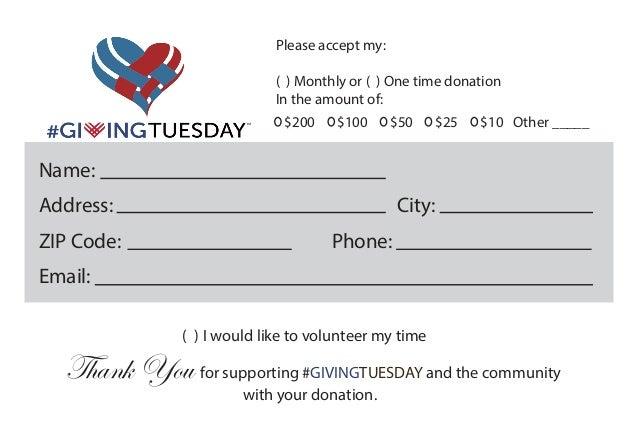 donation pledge card