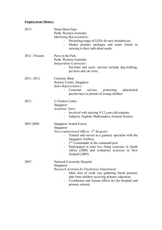 pet sitting resume