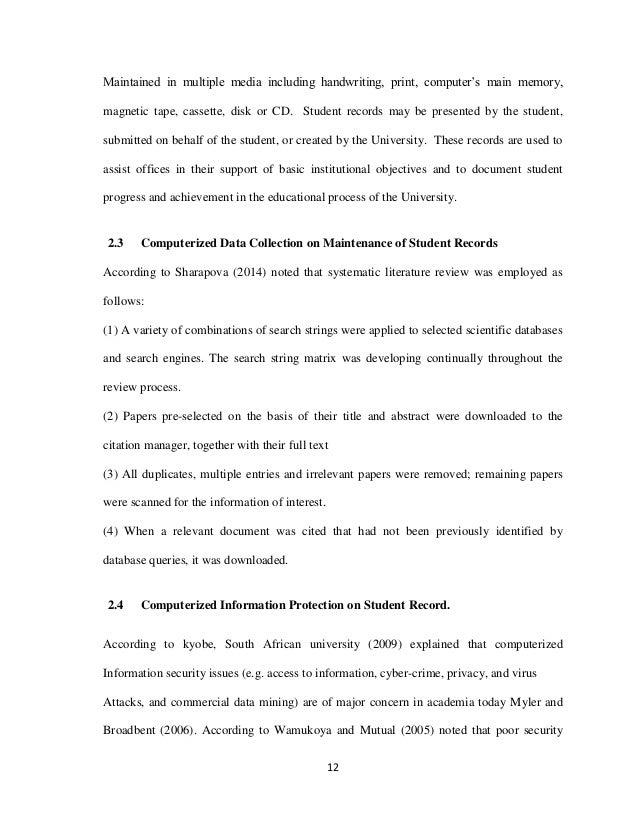 records management literature review