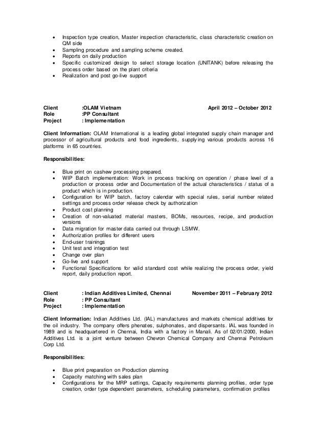sap abap cv isu billing and invoice consultant sample resume