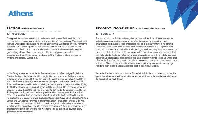 masters program creative writing to masters