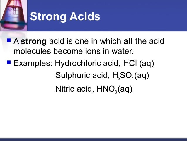 how to tell if strong or weak acid