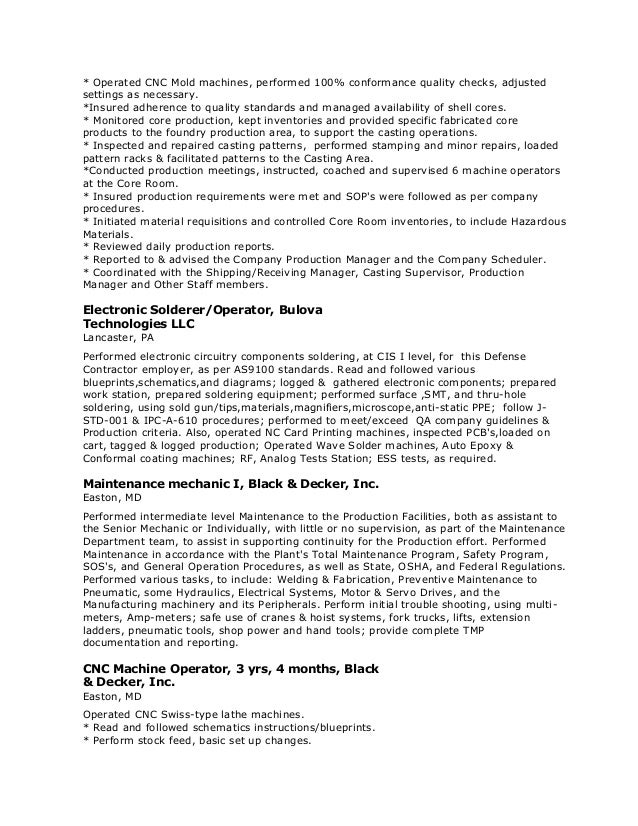 Machine _Operator Resume