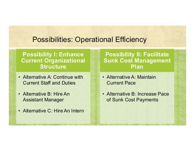 Possibilities: Operational Efficiency 36 Possibility I: Enhance Current Organizational Structure • Alternative A: Continue...