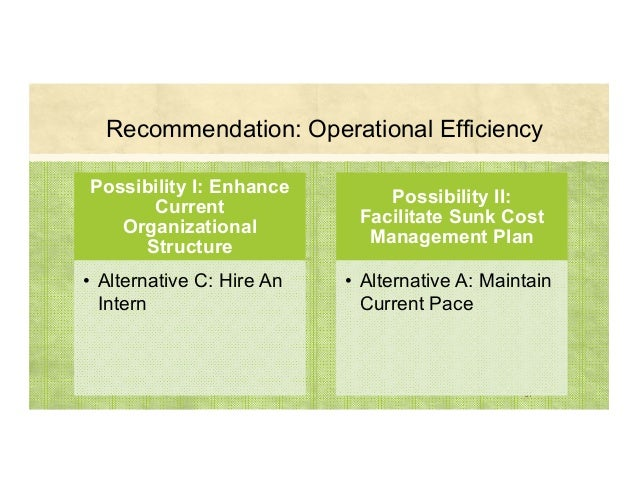Recommendation: Operational Efficiency 37 Possibility I: Enhance Current Organizational Structure • Alternative C: Hire An...