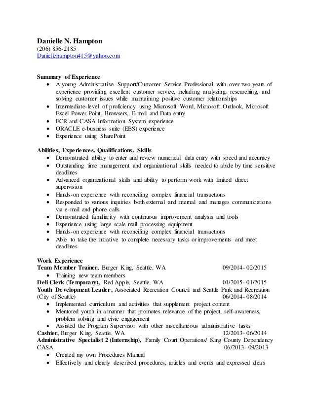 Executive Summary Resume Example Template. How To Write A Resume