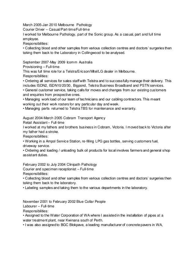 resume for courier driver - Parfu kaptanband co