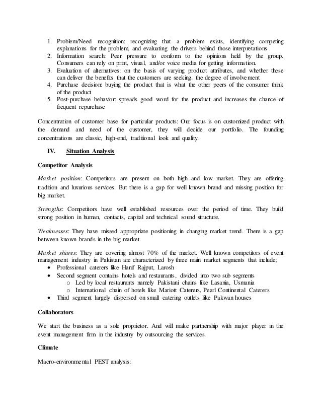Catering Business – (Marketing Plan)