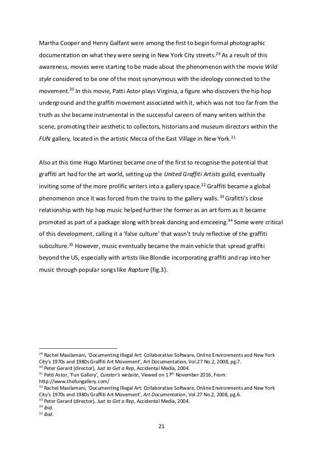 Dissertation prospectus history