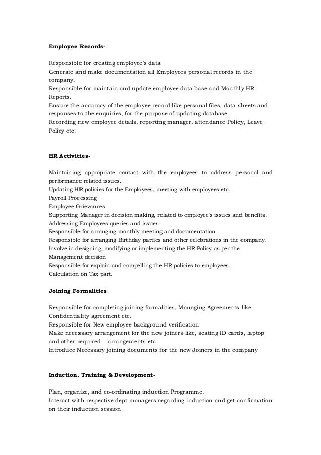 Sneha Hr Resume