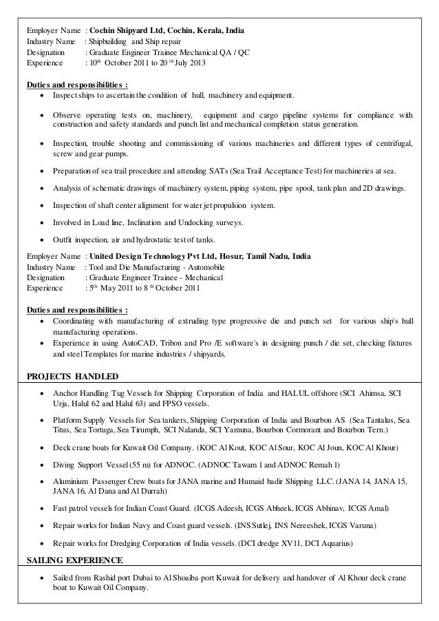 2 mechanical test engineer - Mechanical Test Engineer Sample Resume
