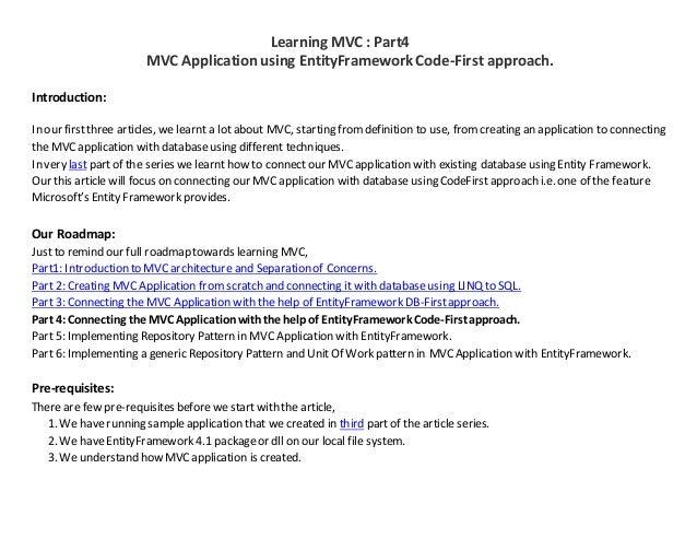 MVC Application using EntityFramework Code-First approach Part4